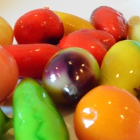 Colorful Luk Chup Candies